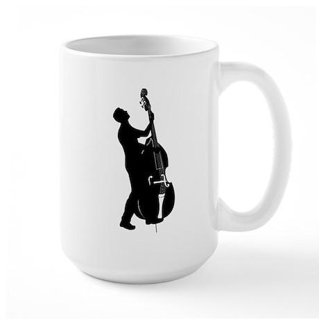 Double Bass Player Large Mug