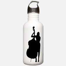 Double Bass Player Water Bottle