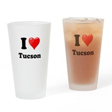 I Heart Love Tuscon.png Drinking Glass