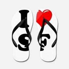 I Heart Love SF San Francisco.png Flip Flops