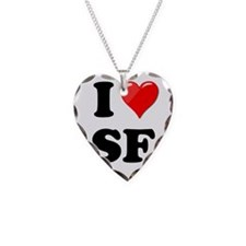 I Heart Love SF San Francisco.png Necklace