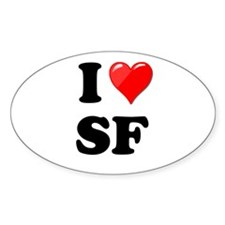 I Heart Love SF San Francisco.png Decal