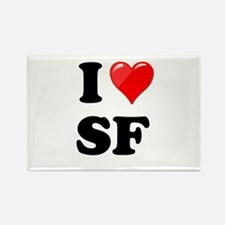 I Heart Love SF San Francisco.png Rectangle Magnet