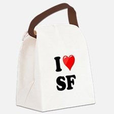 I Heart Love SF San Francisco.png Canvas Lunch Bag