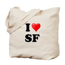 I Heart Love SF San Francisco.png Tote Bag