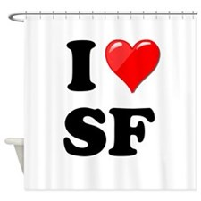 I Heart Love SF San Francisco.png Shower Curtain