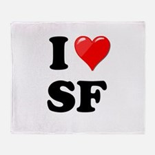 I Heart Love SF San Francisco.png Throw Blanket