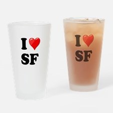 I Heart Love SF San Francisco.png Drinking Glass