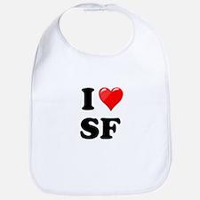 I Heart Love SF San Francisco.png Bib