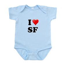 I Heart Love SF San Francisco.png Infant Bodysuit
