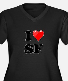 I Heart Love SF San Francisco.png Women's Plus Siz
