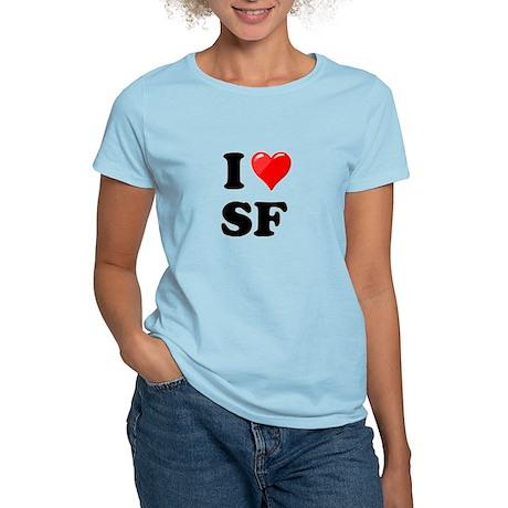 I Heart Love SF San Francisco.png Women's Light T-