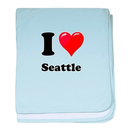 I Heart Love Seattle.png baby blanket
