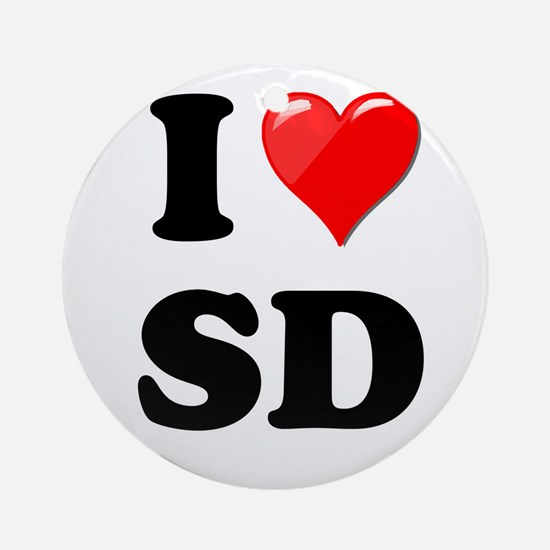 I Heart Love SD San Diego.png Ornament (Round)