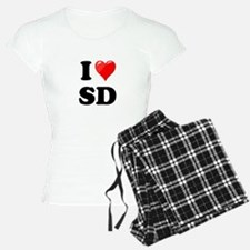 I Heart Love SD San Diego.png Pajamas