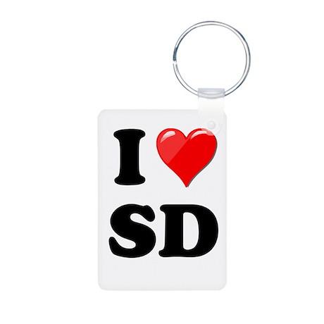I Heart Love SD San Diego.png Aluminum Photo Keych