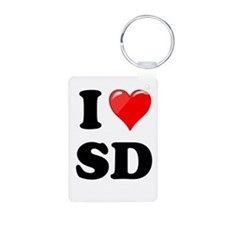I Heart Love SD San Diego.png Keychains