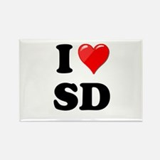 I Heart Love SD San Diego.png Rectangle Magnet