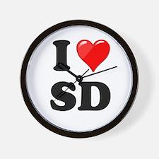 I Heart Love SD San Diego.png Wall Clock