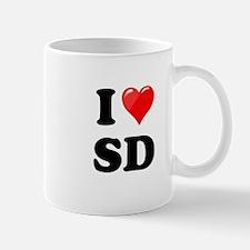 I Heart Love SD San Diego.png Mug