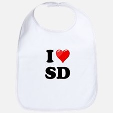 I Heart Love SD San Diego.png Bib