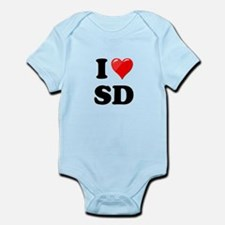 I Heart Love SD San Diego.png Infant Bodysuit