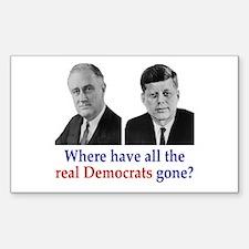 Real Democrats Rectangle Decal