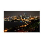 Downtown Pittsburgh Illuminated 1 20x12 Wall Decal