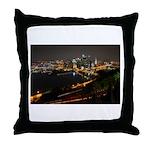 Downtown Pittsburgh Illuminated 1 Throw Pillow