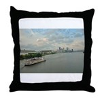 Majestic River Cruise Throw Pillow