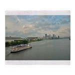 Majestic River Cruise Throw Blanket