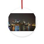 Downtown Pittsburgh Illuminated 3 Ornament (Round)