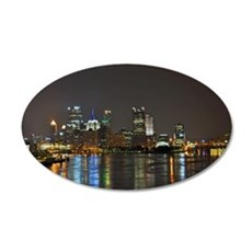 Downtown Pittsburgh Illuminated 3 Wall Decal