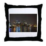 Downtown Pittsburgh Illuminated 3 Throw Pillow