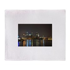 Downtown Pittsburgh Illuminated 3 Throw Blanket