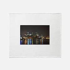 Downtown Pittsburgh Illuminated 3 Throw Blanket