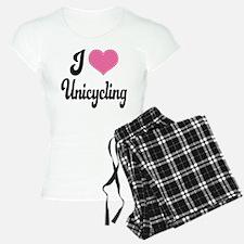 I Love Unicycling Pajamas