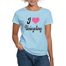 I Love Unicycling T-Shirt