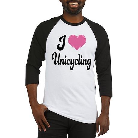 I Love Unicycling Baseball Jersey