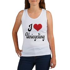 I Love Unicycling Women's Tank Top