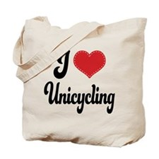 I Love Unicycling Tote Bag