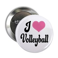 "I Love Volleyball 2.25"" Button"