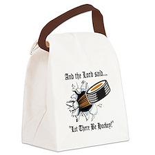 Funny Hockey Canvas Lunch Bag