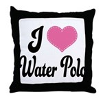 I Love Water Polo Throw Pillow
