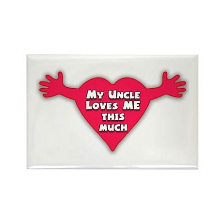 My Uncle Loves Me Rectangle Magnet (100 pack)
