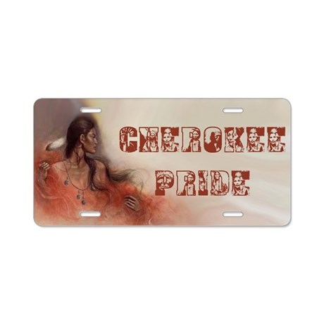 Cherokee Pride Aluminum License Plate