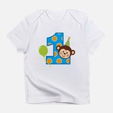 Funny Sock monkey 1st birthday Infant T-Shirt
