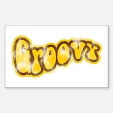 Vintage Groovy Rectangle Decal