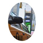 NYC Taxi Ornament (Oval)