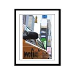 NYC Taxi Framed Panel Print